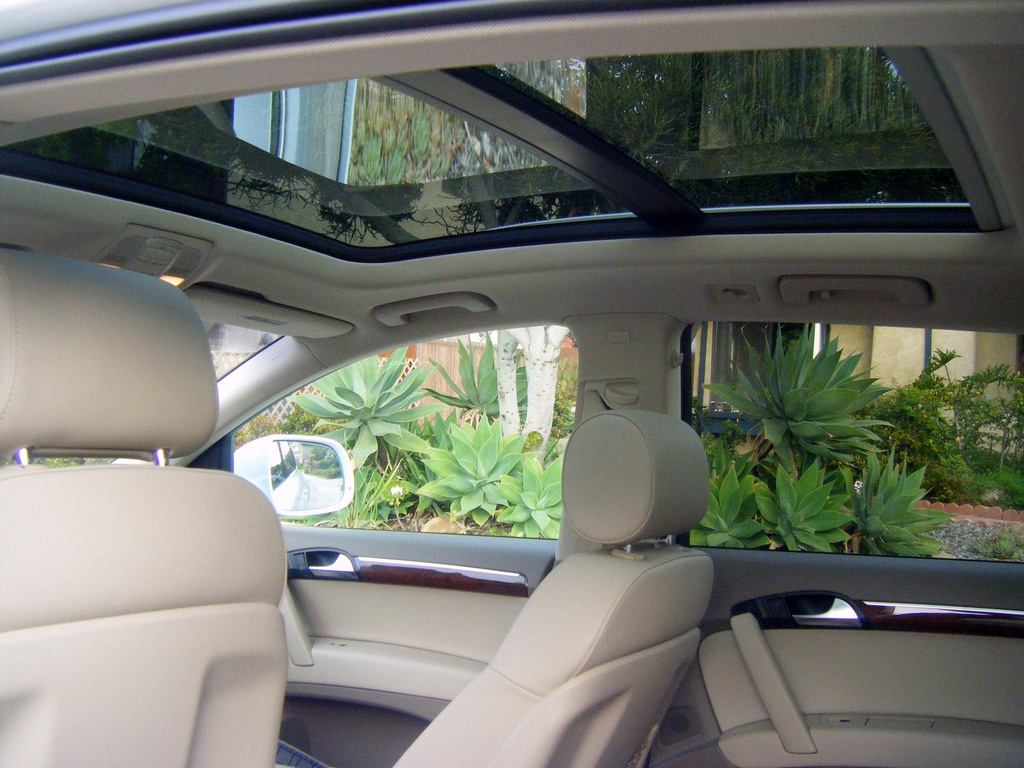 A large intact sunroof.